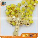 Fashion Colorful beads CATHOLIC Rosary necklace Sweater dress necklace chain