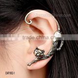Personalized punk anti allergy alloy electroplate cat ears fashion ear pin cuff earrings