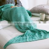 Wholesale Handmade Knitted Mermaid Tail Blanket Crochet Wrap Mermaid Blanket Crochet Pattern Mermaid Blanket