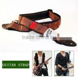 NEW Adjustable Acoustic Guitar Straps Ukulele Belt , Black Leather Ends For Guitars