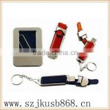 Most popular beautiful usb leather pen drive disk