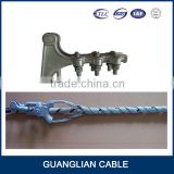 china manufacturing overhead power line fitting OPGW dead end Preformed fiber cable tension fittings
