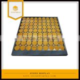 Custom logo table top black acrylic material stone sample display case/frame