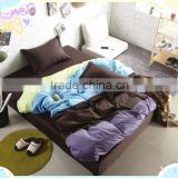 China textile Reactive printed king size 100 cotton modern round bed sheets cheap luxury thermal bedroom set wholesale