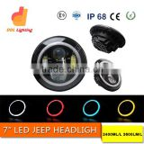 jeep wrangler jk accessories 7 Inch Round Led Headlight for Jeep Motorcycle Offroad 7 inch round led headlight 12v 24v