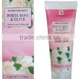 "Hand Cream ""WHITE ROSE & OLIVE"", paraben free, 75 ml., Made In EU, Private Label Available"