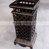 low price high grade grid outdoor garden waste bin trash can stainless steel dustbin outdoor furniture