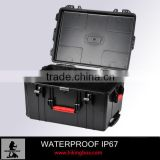 Wheeled hard Injection molding plastic secure case for military fireman