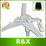 New brand wind turbine generator with 3 PCS blades, 3 years warranty+wind/solar hybrid controller(LED display).