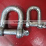 Drop Forged Screw Pin JIS type Shackle using for Chain;connection chain shackle for connection,d shackle,anchor shackle,