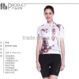 2014 sublimated printed bike jersey silicon elastic stretch hem bandWomen's summer top Short cycling Jersey-Plum Blossom
