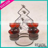 Wholesale Hot Selling metal crown candle holder For Home Holiday Decoration