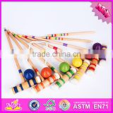 2016 Outdoor garden 6 player funny children wooden croquet game W01A166