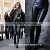 sexy hot ladies winter warm High Waisted Women's Faux Leather Stretch Skinny Pants Leggings