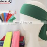 green color unisex cotton spandex headband