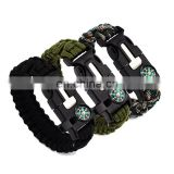 Emergency Rope Buckle Kits Men's Survival Bracelets Rescue Cord Parachute Cord Wristbands