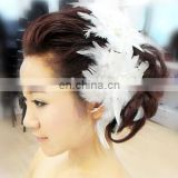 High Quality Charm Sweat Bridal Headpiece Wedding Hand Decoration Flower&Feather Belly Dancer Head Band Fashion Hair Accessories