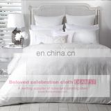 wholesale best selling 100%soft cotton White Hotel Duvet cover/ bedding set /bed sheet