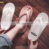 2020 summer hot sell solid color pvc integrated forming bohemian brazil colorful comfort cushion cute fashion women flip flops