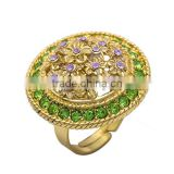 New arrival micro pave zircon ring manufacturer price Rhinestone Ring Imperial Vault Style Ring