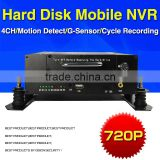 hot 4CH mobile nvr 720p hd bus taxi school bus night vision mobile tvi dvr