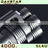 DAKSTAR New Arrival SL4U XML2 U2 4000LM 18650 Aluminum Highlight Torch Flashlight With CREE                                                                         Quality Choice
