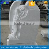 High Quality Hand Craved Angel White Marble Tombstone