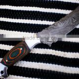 "udk h81"" custom handmade Damascus hunting knife / TANTO knife with sheet and steel bolsters handle"
