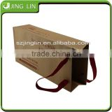 Gold supplier flat bottom paper craft bag with handle