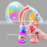 Battery-operated( B/O)bubble gun toys with music and lamp