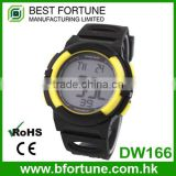 DW166 Healthy sport product rubber chrono timer function heart rate monitor watch