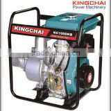 "best price of diesel water pump set 4"" 9hp 406cc agricultural irrigation diesel water pump DWP100 with CE ISO approvol"