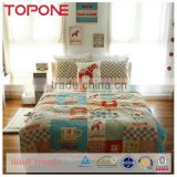 Elegant design printed cartoon kids bedding sets 100% cotton