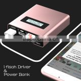 Mobile USB I-Memory Flash Drive HD And Power Bank 5V/2A 5200mAh (For Samsung ICR 18650 Lithium battery*2) For iphone ipad
