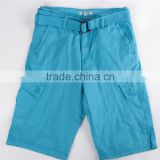 Mens cheap price stock apparel cargo shorts with belt