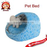 Blue Heart Egg Shaped Dog Bed, Pet Home with Washable Pillow