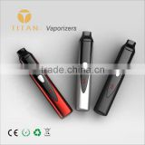 2015 classic Portable Smokeless herbal E-pipe , Titan-1 Vaporizer with lowest price from orignal factory