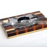 wooden luxury crystal cigar ashtray