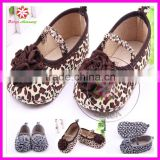 Leopard lovely baby prewalker crib shoes