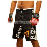 black white spandex polyester mma grappling shorts,mma apparel,boardshorts