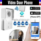 Factory sale Wireless Wifi 3G 4G Doorbell Camera + Indoor Bell+ RFID Keyfobs Video Door Phone Intercom Waterproof for Smartphone