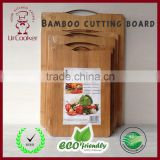 2016 Newly high-quality durable food grade easy to clean Bamboo cutting board