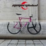700C Single Speed fixed gear bike aero spoke wheel Steel frameset + carbon fiber handlebar + Zone carbon 3 spoke front wheel