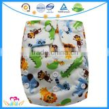 Cartoon Print One Size Pocket Baby Nappies Washable Reusable Cloth Diapers Discount China
