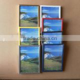 cheap wholesale scenery picture pvc plastic photo frame advertising frame certificate frame