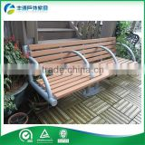 New Design Camping Galvanized Steel Frame Garden Wood Bench