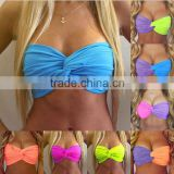 Gifts For Women Dark Purple Bandeau Bikini Top Swimwear Swimsuit Beach Boho Ariel Little Mermaid Top Halloween Costume