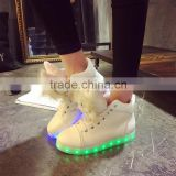 Cute Bear PU Surface Warm Villus Lining LED Flash Lighting Shoes