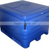Insulated large ice chest for storage fish and seafood on board for fisherman fish totes