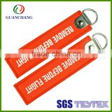 China from goods novelties custom polyester material key holder wristbands cheap keychain short key lanyard
